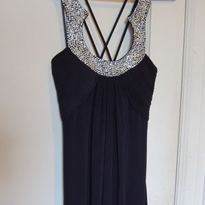 Stunning Purple Formal Dress with Beaded Neckline